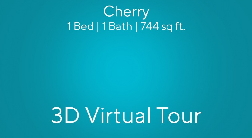 """This virtual apartment tour of our one bedroom apartment in Charlotte, NC shows you the """"Cherry"""" floor plan"""