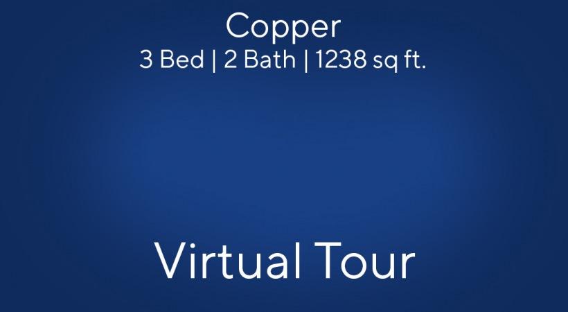 Copper Floor Plan, 3bed/2bath, 1238 sq ft