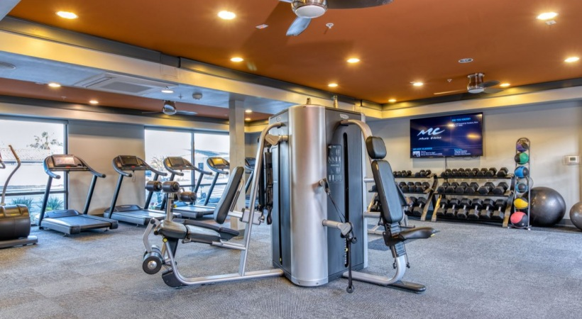 Our Downtown Phoenix apartment gym with updated equipment