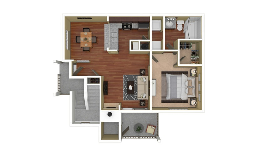 Brighton 1 bedroom 1 bath 750 square feet