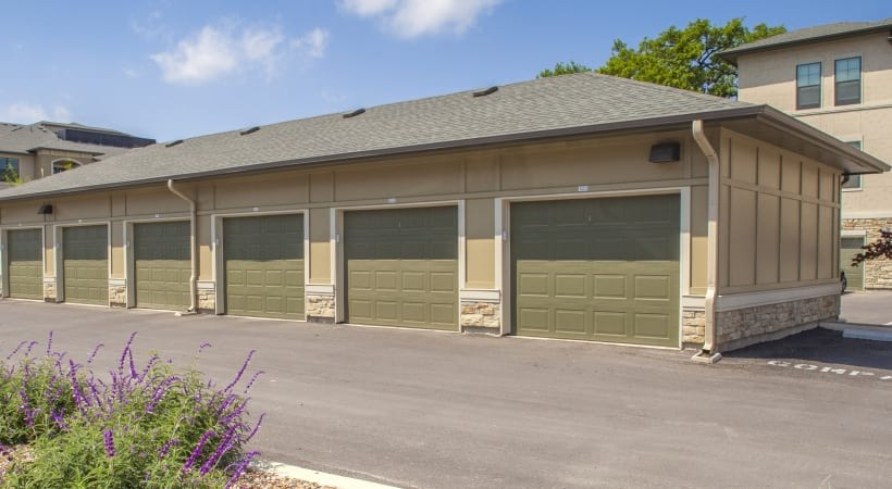 Apartments with private garages at Cortland Brackenridge