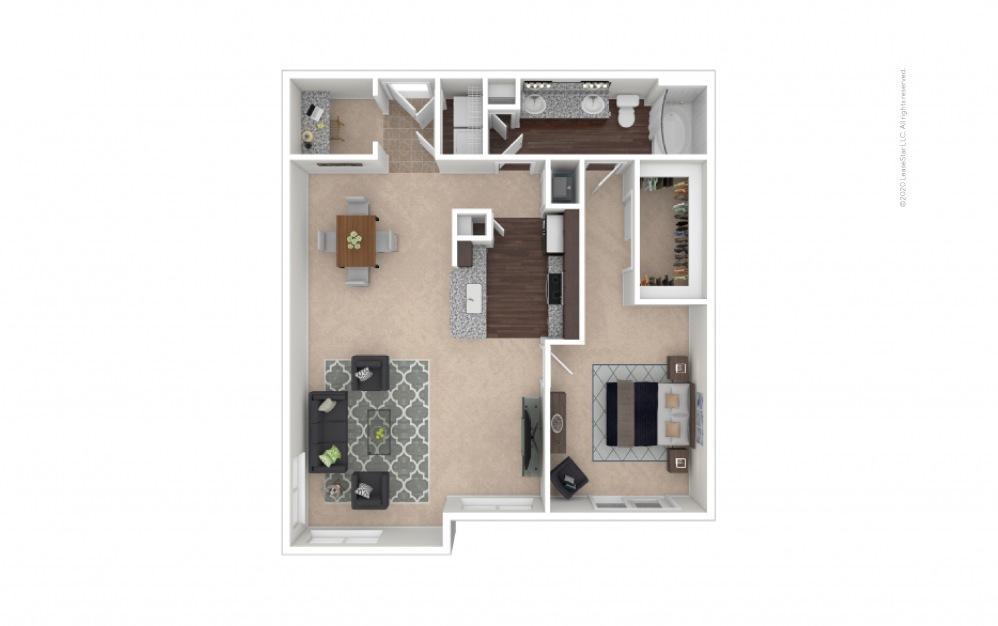 Durham III Midrise 1 bedroom 1 bath 991 square feet
