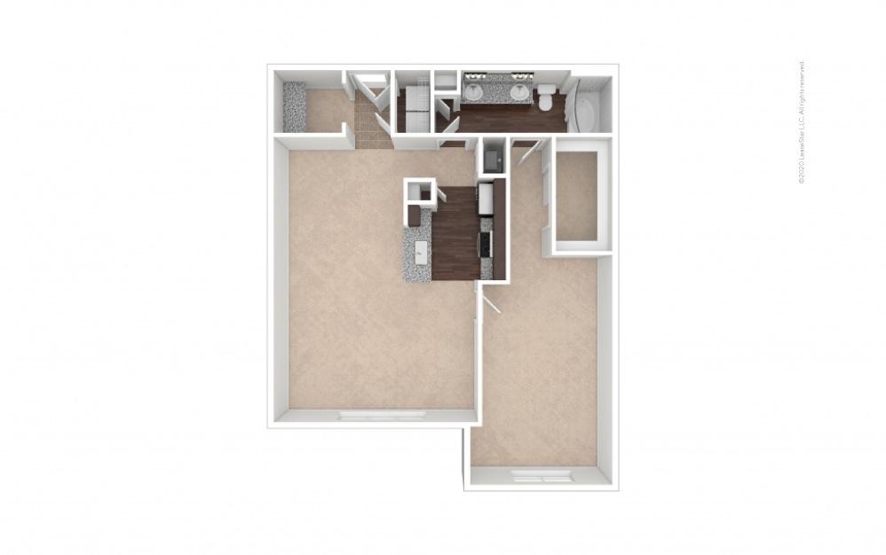 Durham IV Midrise 1 bedroom 1 bath 1025 square feet (1)