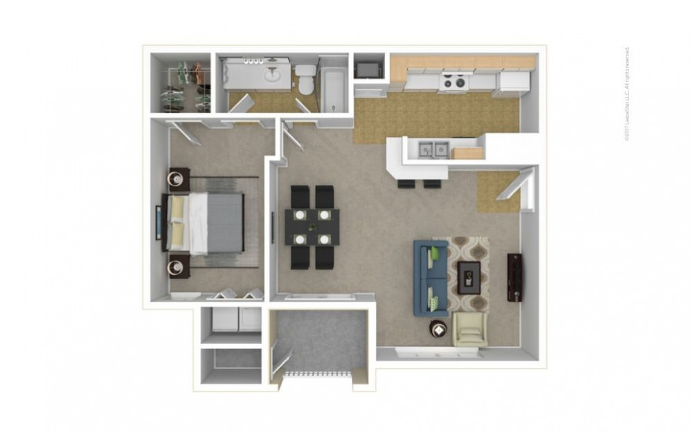 The Dursley Floor Plan—3D Furnished
