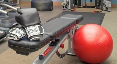 Fitness equipment at Cortland Brackenridge in Northeast San Antonio