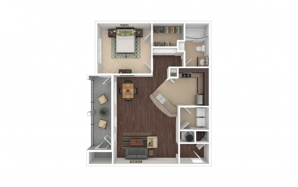 Ellis 1 bedroom 1 bath 868 square feet