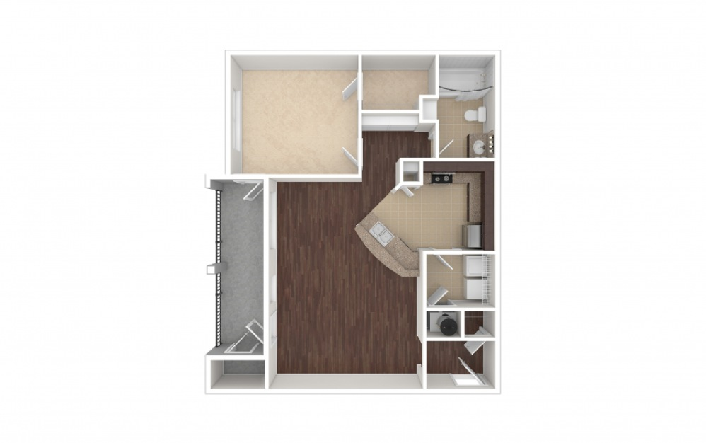Ellis 1 bedroom 1 bath 868 square feet (1)
