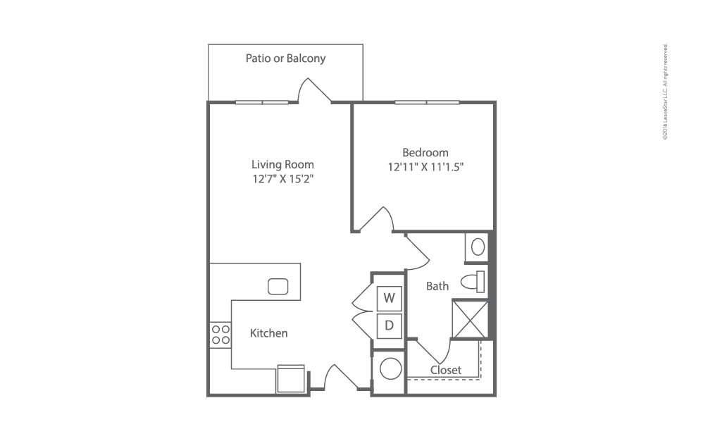 Angler 1 bedroom 1 bath 672 square feet (2)