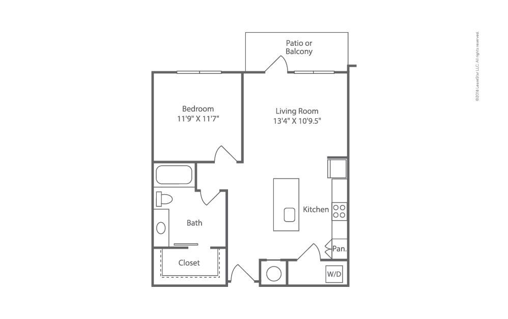 Beam 1 bedroom 1 bath 726 square feet (2)