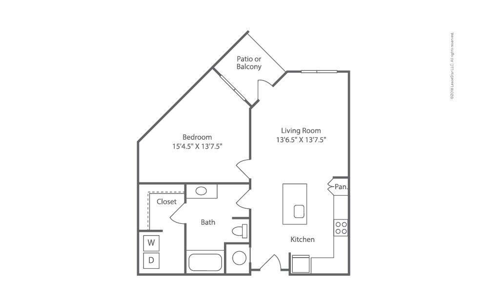 Bearing 1 bedroom 1 bath 775 square feet (2)