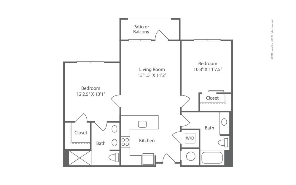 Helm 2 bedroom 2 bath 964 square feet (2)