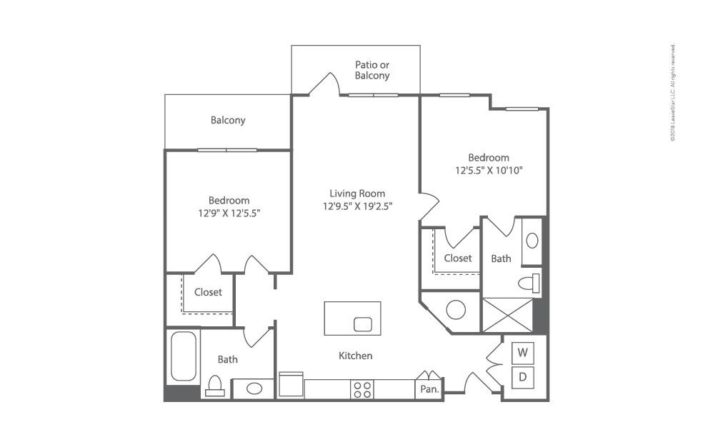 Outrigger 2 bedroom 2 bath 1124 square feet (2)