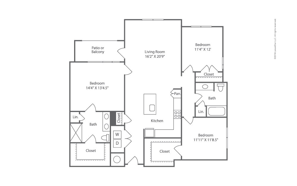 Topside 3 bedroom 2 bath 1536 square feet (2)