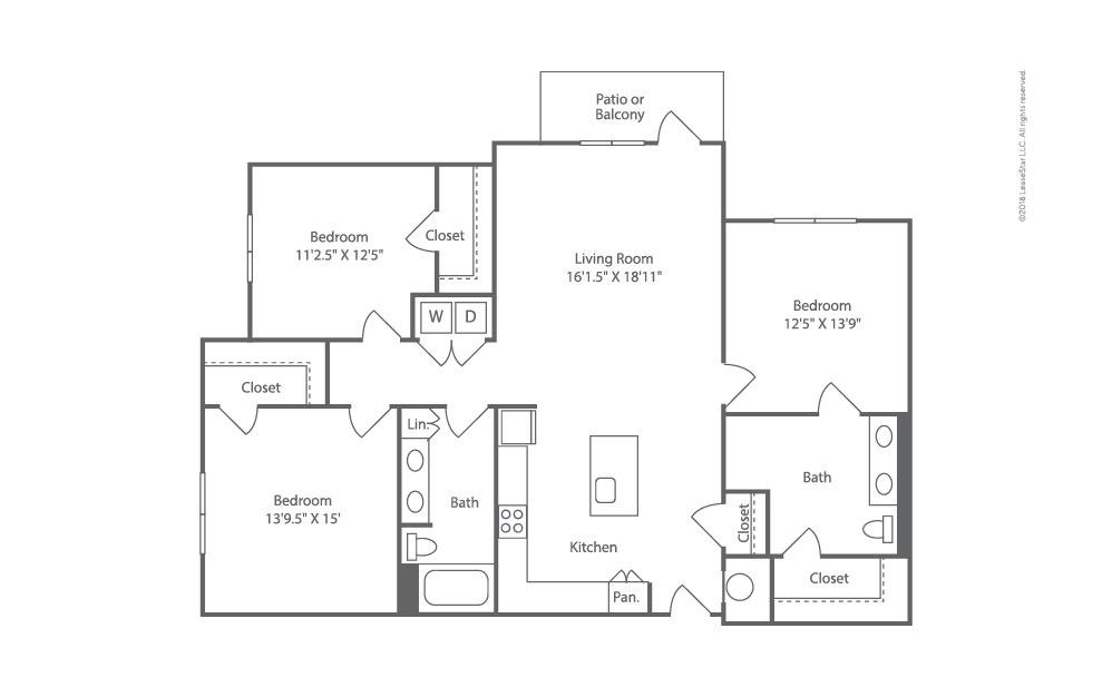 Trawler 3 bedroom 2 bath 1559 square feet (2)