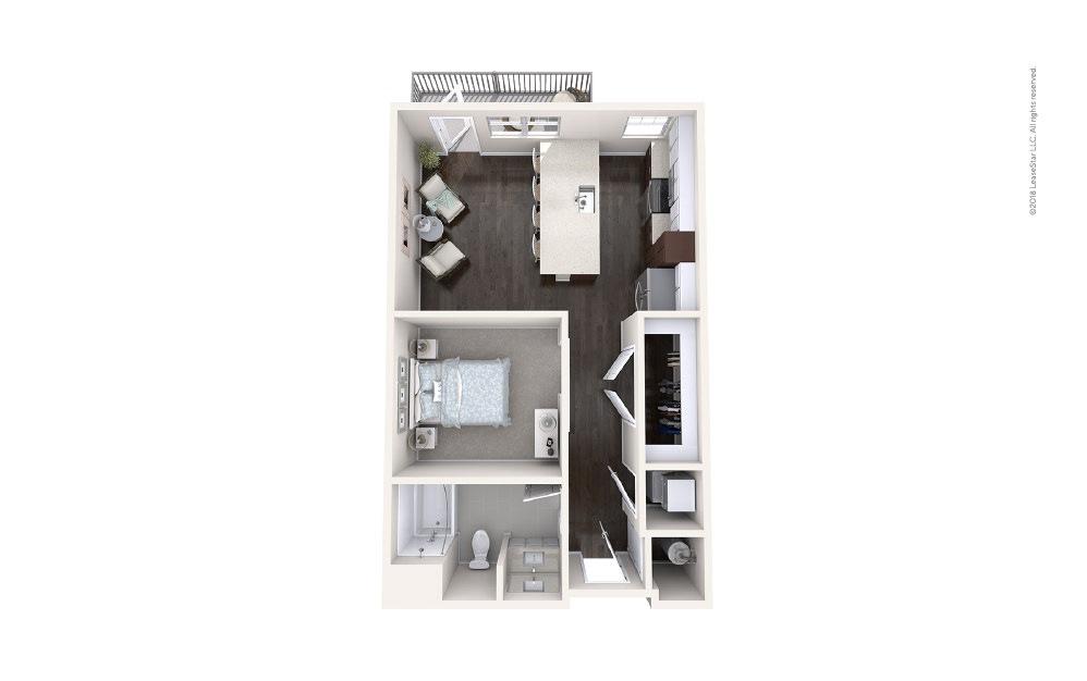 Aft Studio 1 bath 593 square feet