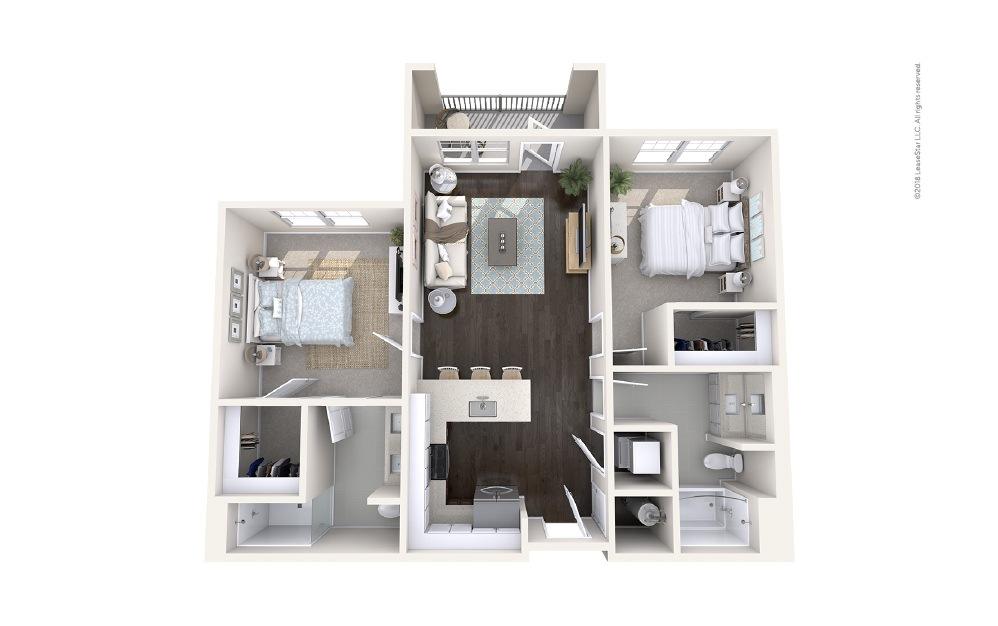 Helm 2 bedroom 2 bath 964 square feet