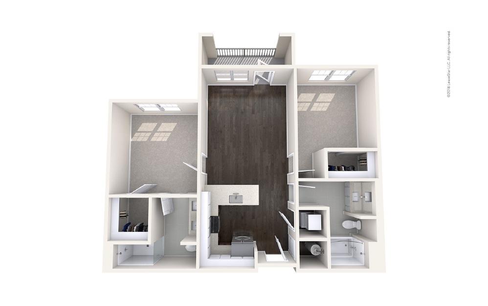 Helm 2 bedroom 2 bath 964 square feet (1)