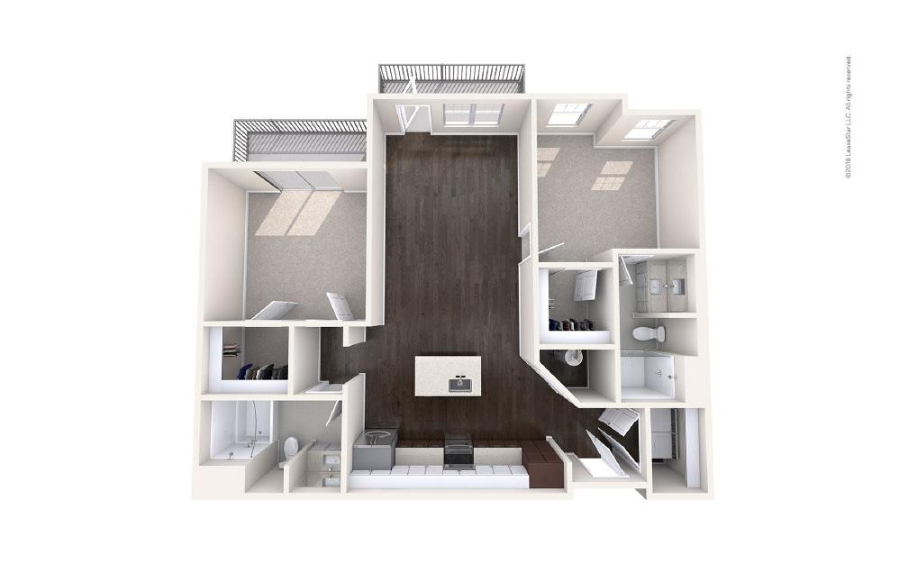 Outrigger 2 bedroom 2 bath 1124 square feet (1)