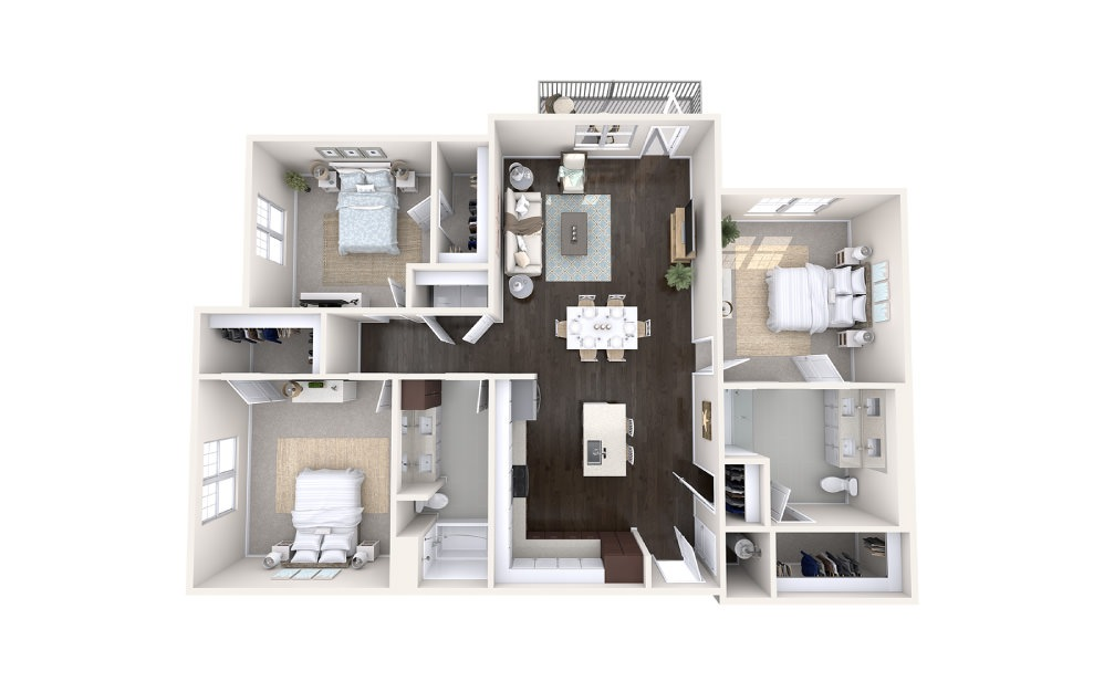 Trawler 3 bedroom 2 bath 1559 square feet