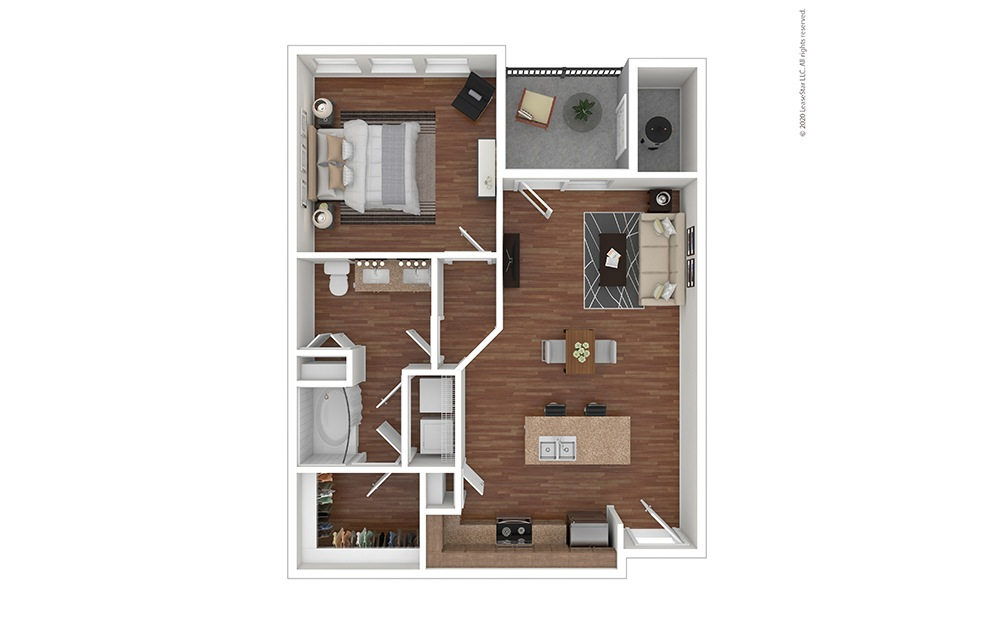 A1 Floor Plan with Furniture