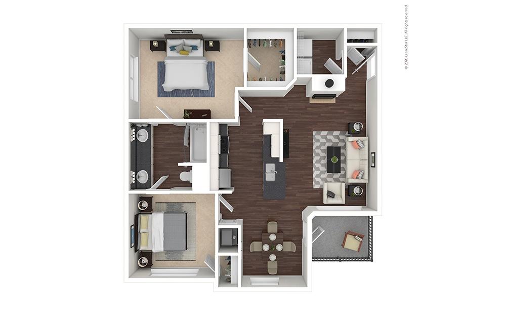Virginia Floor Plan with Furniture