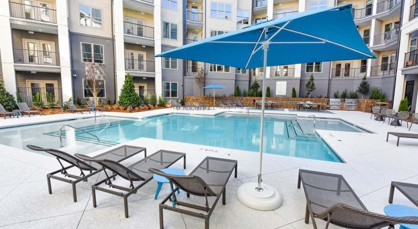 Lounge Chairs by Our Resort Style Pool at Cortland at the Hill