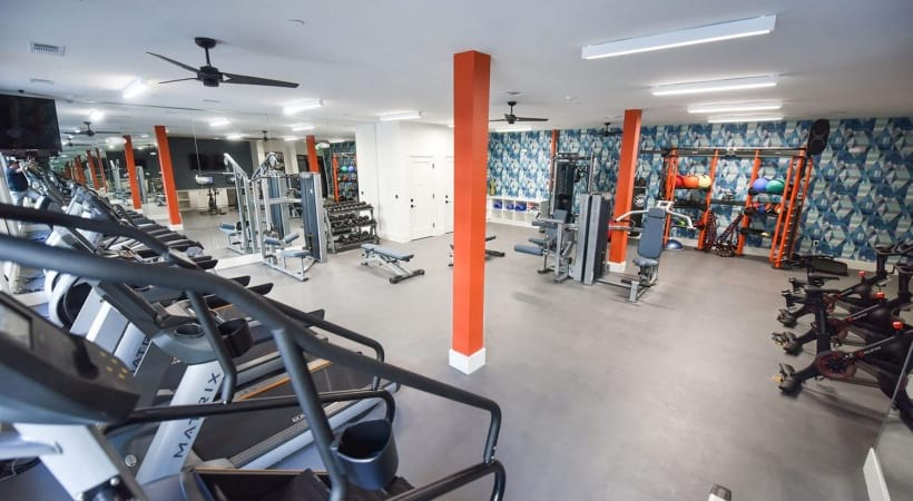 24/7 fitness center at our Sandy Springs apartments