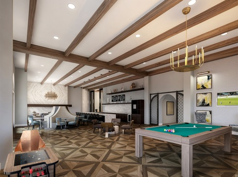 clubhouse at luxury apartments in fort worth tx