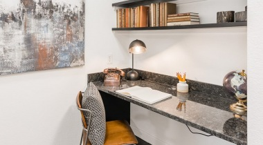 Built-in desks at apartments for rent in South Austin, TX