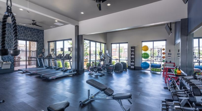 Our Little Elm apartments with gym