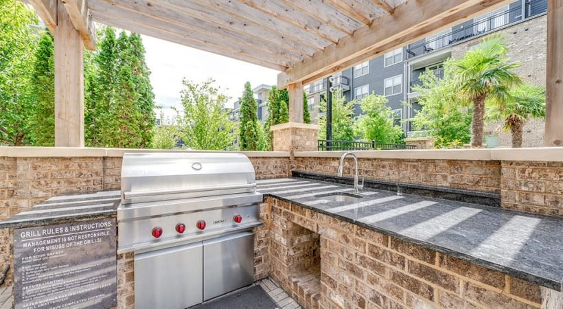 Outdoor barbecue grills at our apartments for rent in raleigh nc