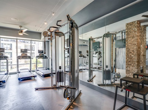 Apartment Gym with Treadmills