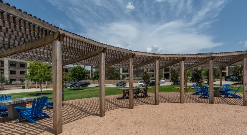 Outdoor sundeck at our Little Elm apartments for rent in Frisco, TX