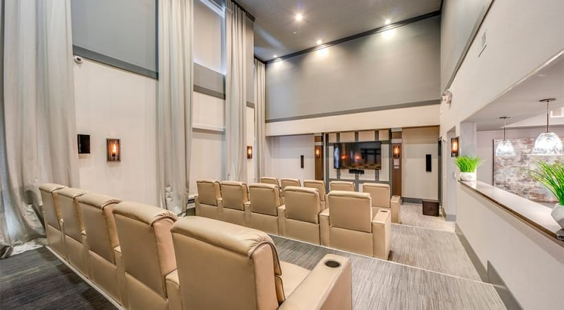 Movie Theater at Our Raleigh Luxury Apartments