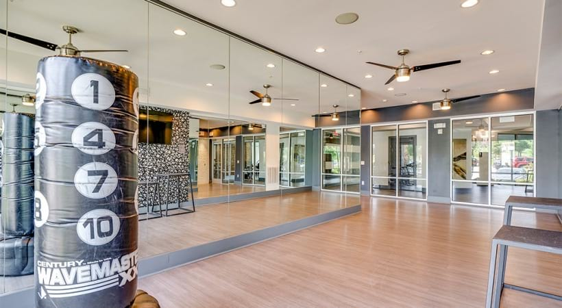 Yoga studio at our Raleigh luxury apartments