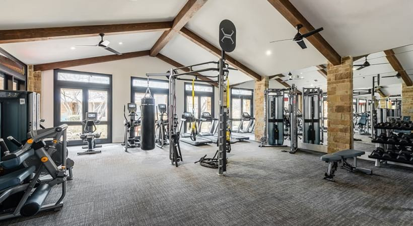 24/7 Fitness Center at our apartments in San Antonio Northwest side