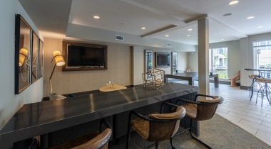 Resident Clubhouse with HDTVs at Cortland North Druid Hills