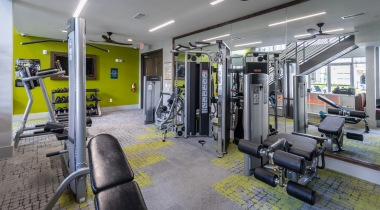 Apartment fitness center at Cortland North Druid Hills