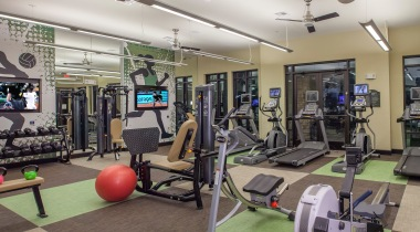 Fitness Center at 	apartment complex San Antonio TX