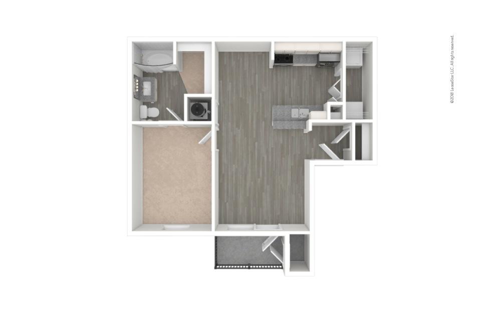 A1 - Haven 1 bedroom 1 bath 594 square feet (1)