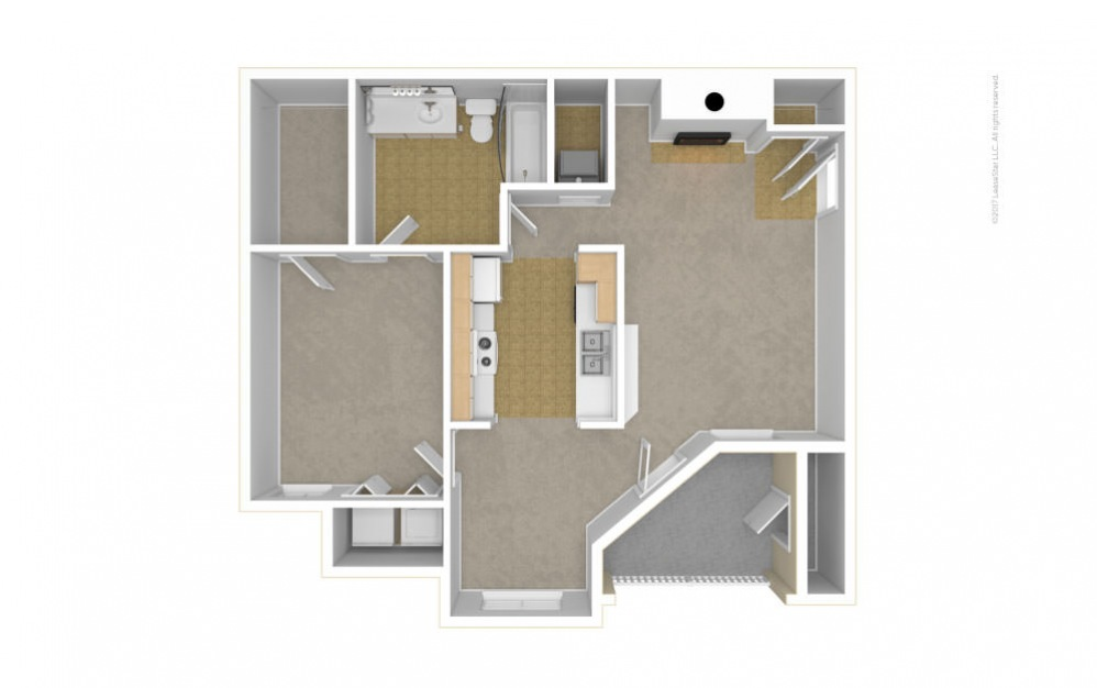 The Heathmoor Floor Plan—3D