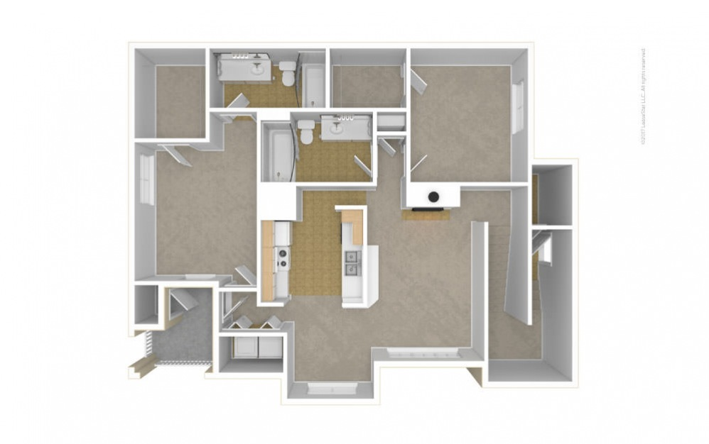 The Ivy Glen Floor Plan—3D