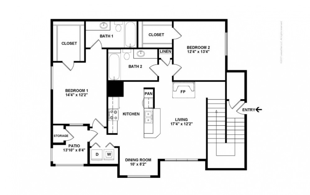 The Ivy Glen Floor Plan—2D