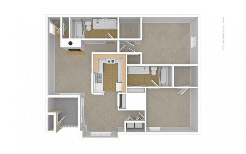 The Kensington Floor Plan—3D