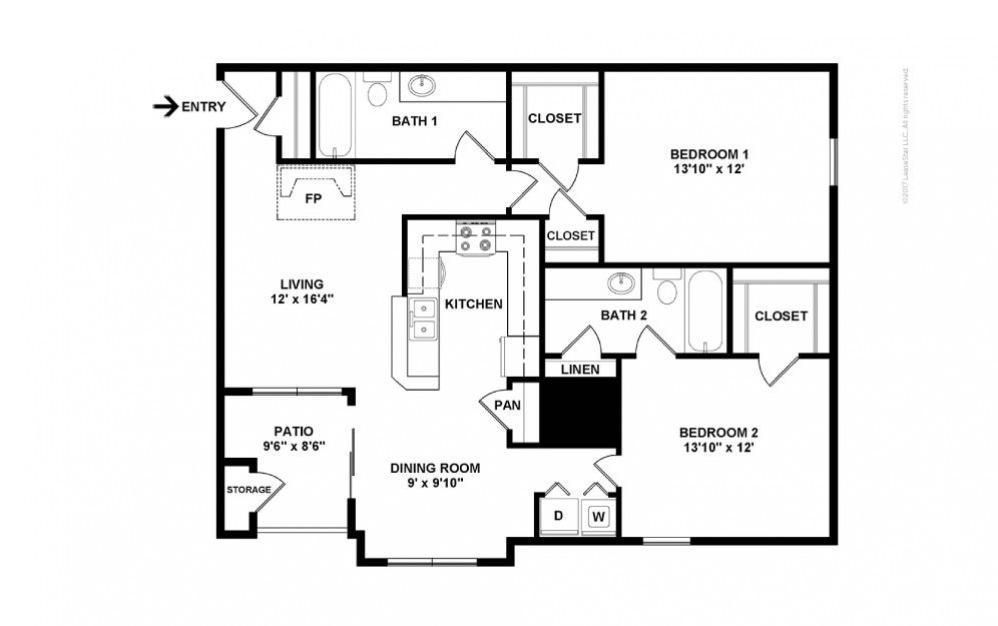 The Kensington Floor Plan—2D