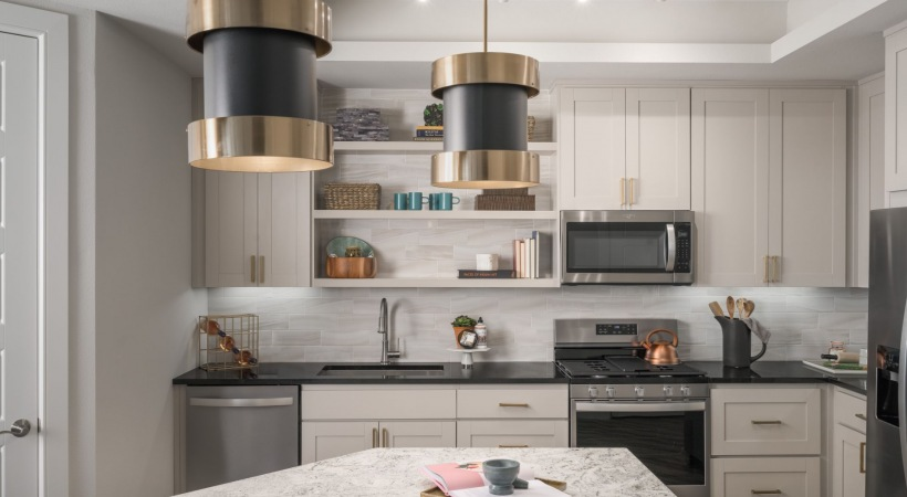 Spacious apartment kitchen at Cortland Biltmore