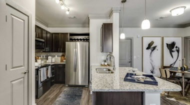 Stainless steel appliances at our McKinney apartments