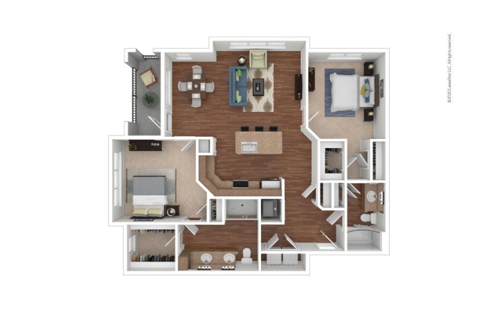 Moore 2 bedroom 2 bath 1267 square feet
