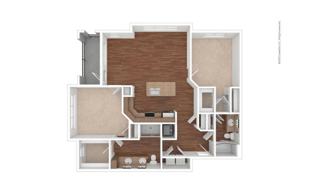 Moore 2 bedroom 2 bath 1267 square feet (1)