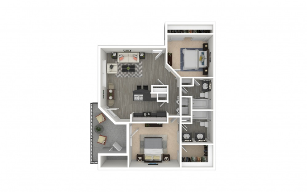 O'Keefe 2 bedroom 2 bath 1131 square feet